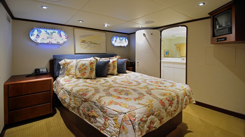 Queen Guest Stateroom 2001 BROWARD Raised Pilothouse Motor Yacht 2428798