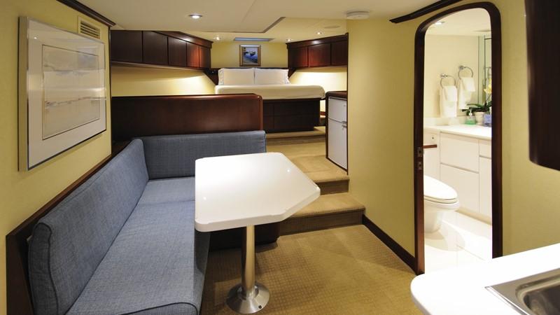 VIP Stateroom lounge 2001 BROWARD Raised Pilothouse Motor Yacht 2428803