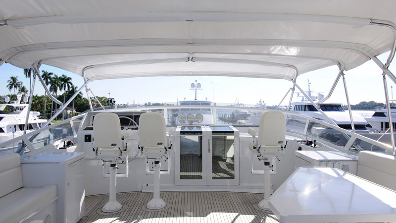 Flybridge Helm with wing stations 2001 BROWARD Raised Pilothouse Motor Yacht 2428812