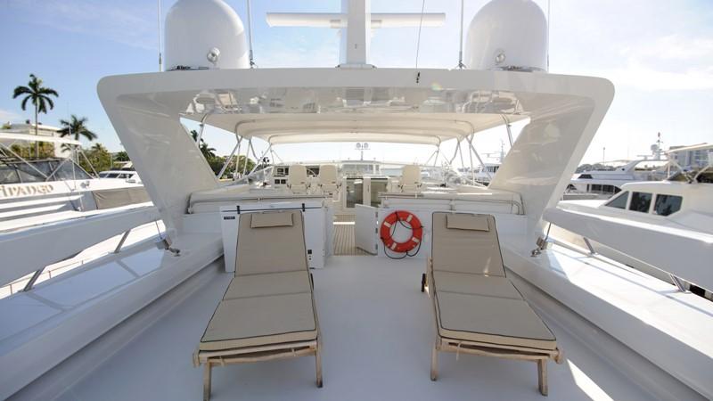 Flybridge aft with (2) 2500 lb davits 2001 BROWARD Raised Pilothouse Motor Yacht 2428813