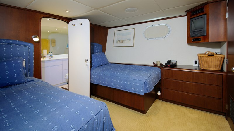 Twin Guest Stateroom 2001 BROWARD Raised Pilothouse Motor Yacht 2428815