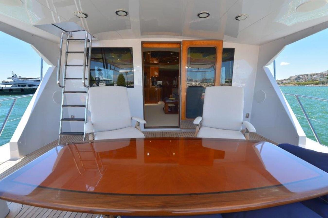 Aft Deck  2003 HATTERAS Convertible Enclosed Bridge Sport Fisherman 2434609