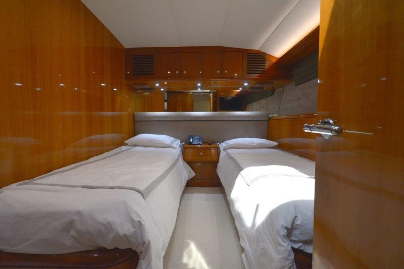 Starboard Guest Twin Stateroom 2003 HATTERAS Convertible Enclosed Bridge Sport Fisherman 2434626