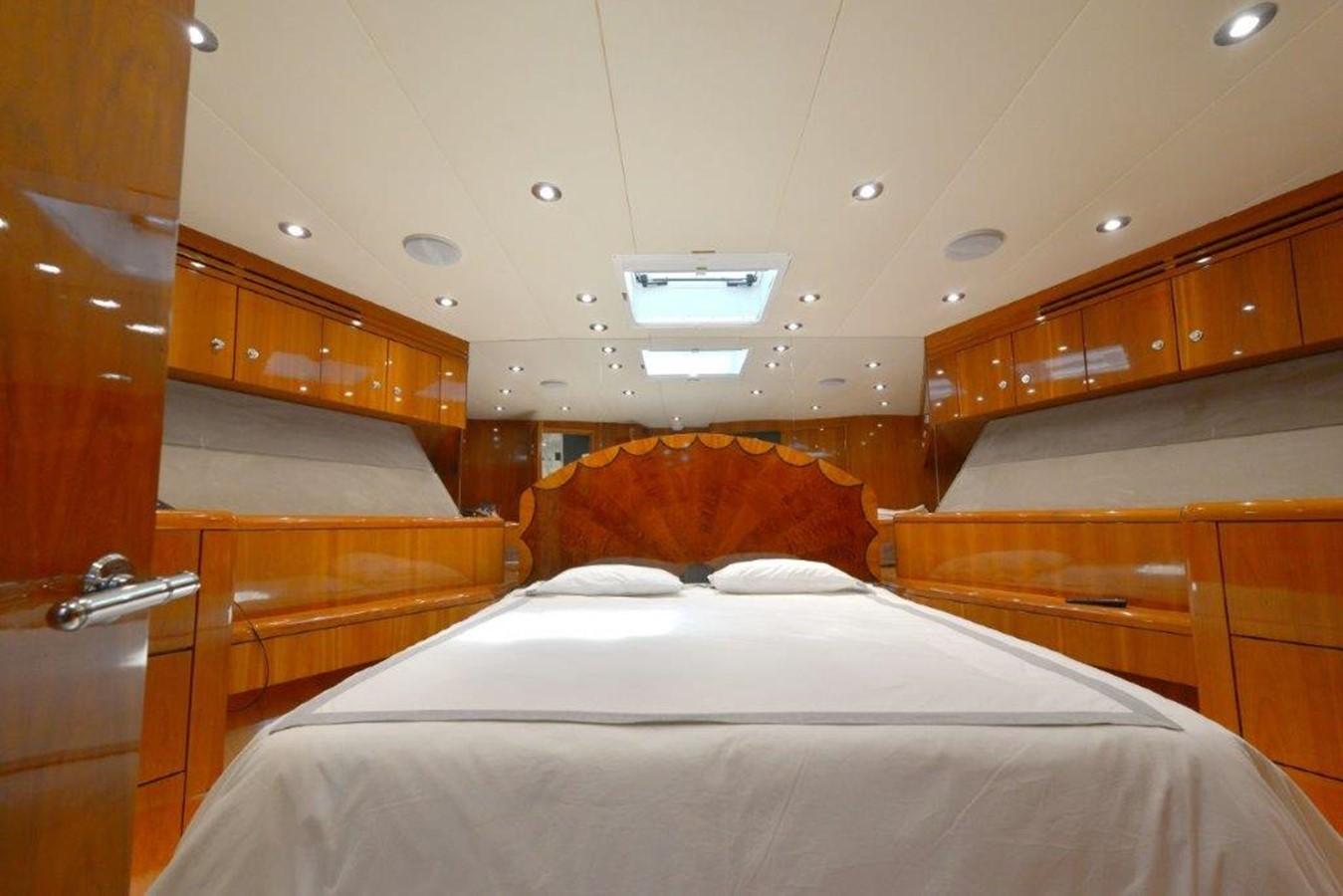 Forward VIP Stateroom 2003 HATTERAS Convertible Enclosed Bridge Sport Fisherman 2434627