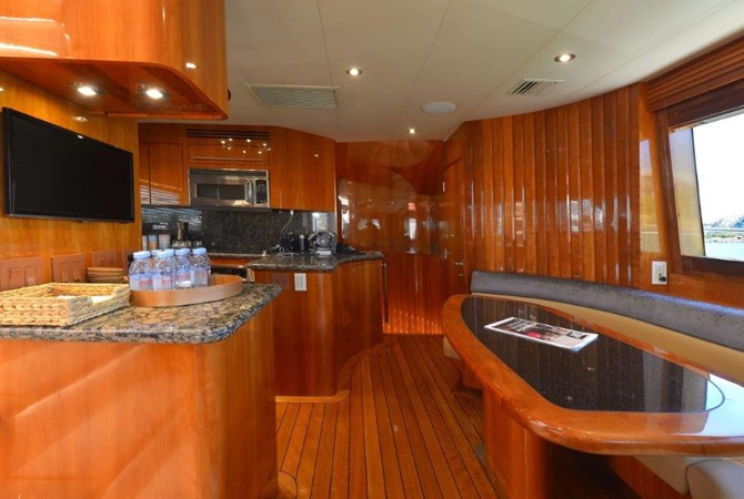 Galley / Dinette 2003 HATTERAS Convertible Enclosed Bridge Motor Yacht 2434616