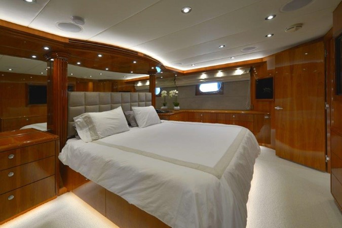 Master Stateroom 2003 HATTERAS Convertible Enclosed Bridge Motor Yacht 2434620