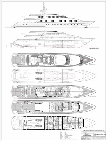 Layout 1994 OCEANCO  Motor Yacht 2425103