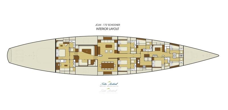 G.A. Interior 2014 Astilleros Buquebus  Schooner 2429331