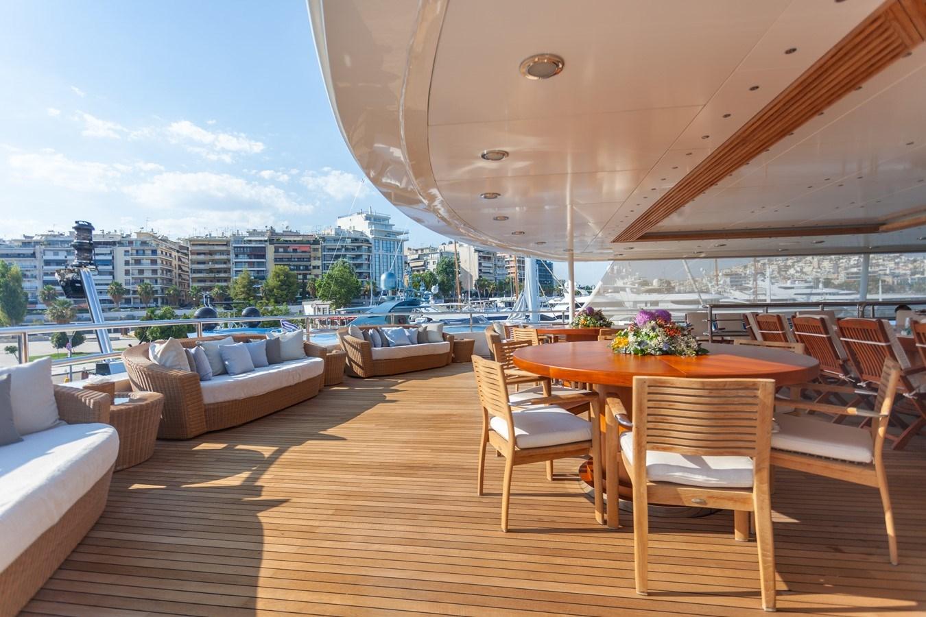 020 O'Mega_271-  aft dining  large_2240885 2004 MITSUBISHI  Mega Yacht 2919770