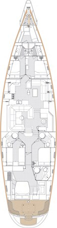 GA lower deck 2010 Oyster Yachts Oyster 82 Cruising Sailboat 2485498