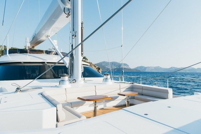 Forward Seating Area 2019 ADA YACHT WORKS Twin Screw Flybridge Sailing Yacht Sloop 2624906