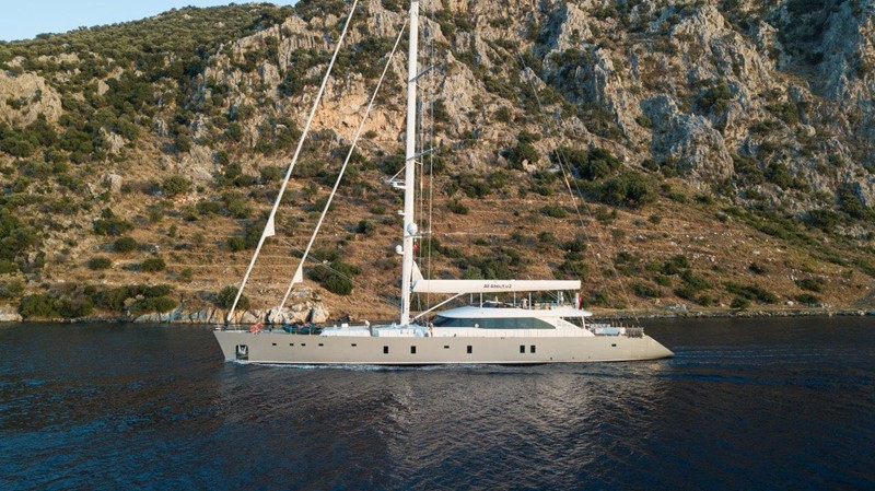 At Anchor 2019 ADA YACHT WORKS Twin Screw Flybridge Sailing Yacht Sloop 2624920