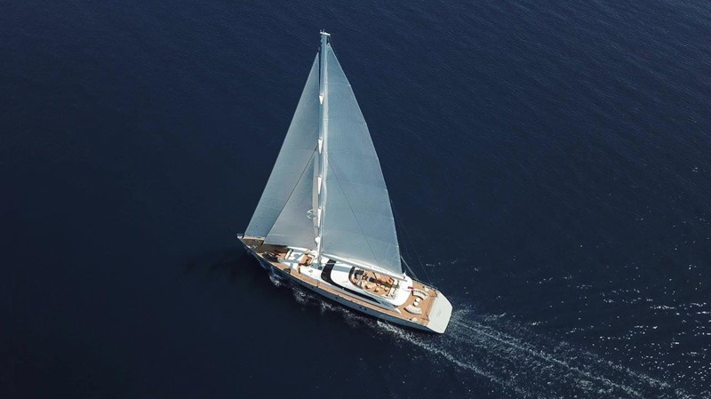 Under Sail 2019 ADA YACHT WORKS Twin Screw Flybridge Sailing Yacht Sloop 2624924