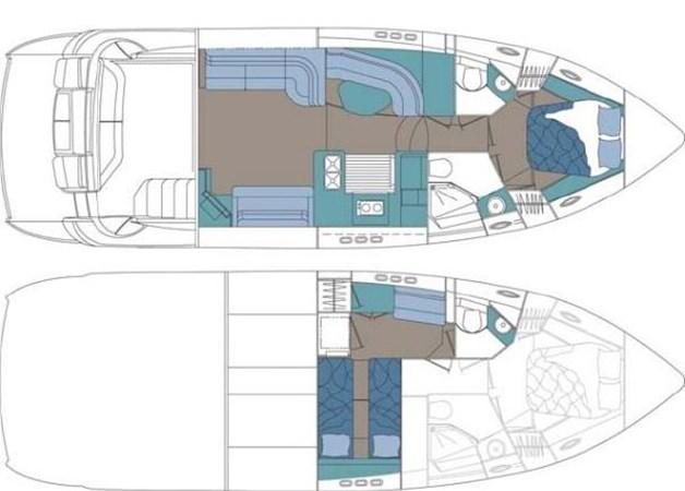 Layout 2007 Cruisers Yachts 447 Sport Sedan Cruiser 2446040