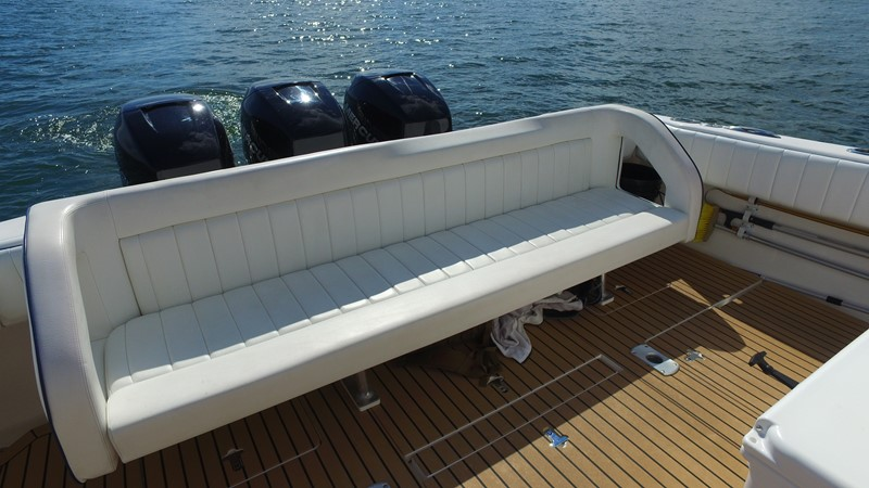 Aft Bench Seating 2013 INTREPID 390 Sport Yacht Cuddy Motor Yacht 2447195
