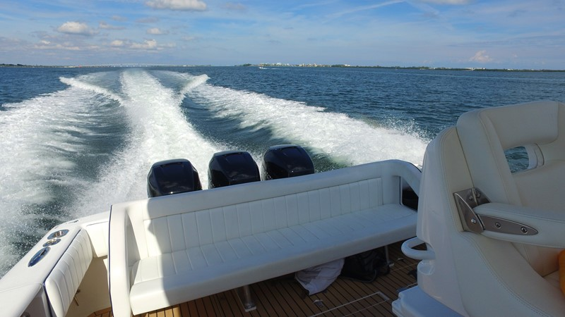Aft Bench Seating 2013 INTREPID 390 Sport Yacht Cuddy Motor Yacht 2447196