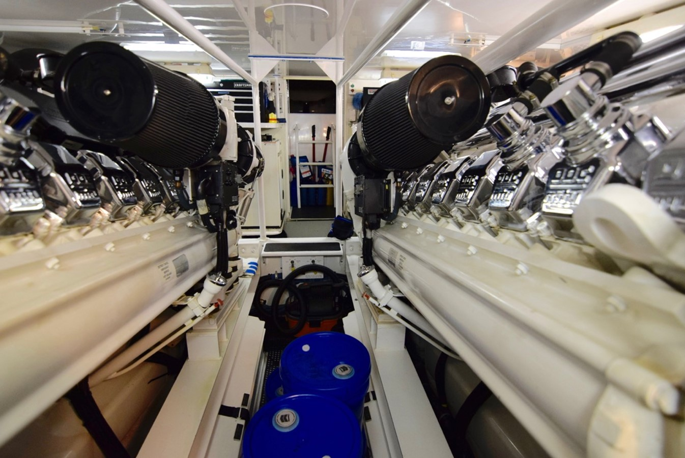 Engine Room 2001 VIKING Enclosed Bridge Motor Yacht 2449306