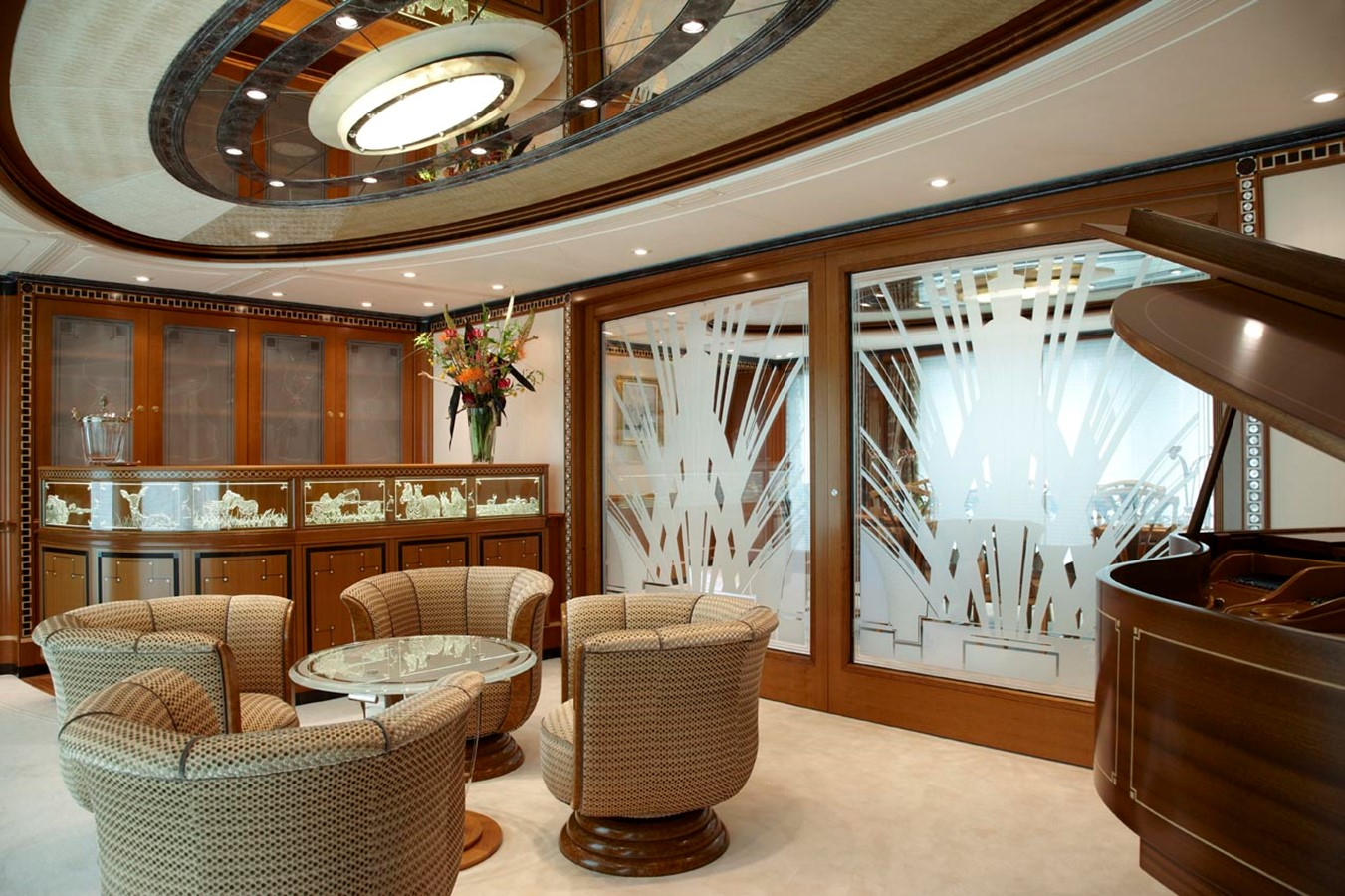 Piano Bar With Dividing Doors Closed - 223 FEADSHIP For Sale