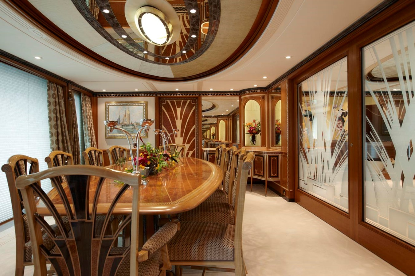 Dining with Dividing Doors Closed 2010 FEADSHIP  Motor Yacht 2454509