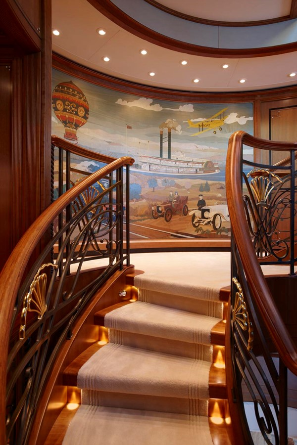 Stairwell to Observation Lounge 2010 FEADSHIP  Motor Yacht 2454517
