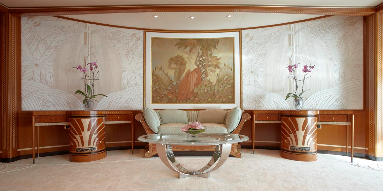 Owner's Stateroom Looking Aft - 223 FEADSHIP For Sale