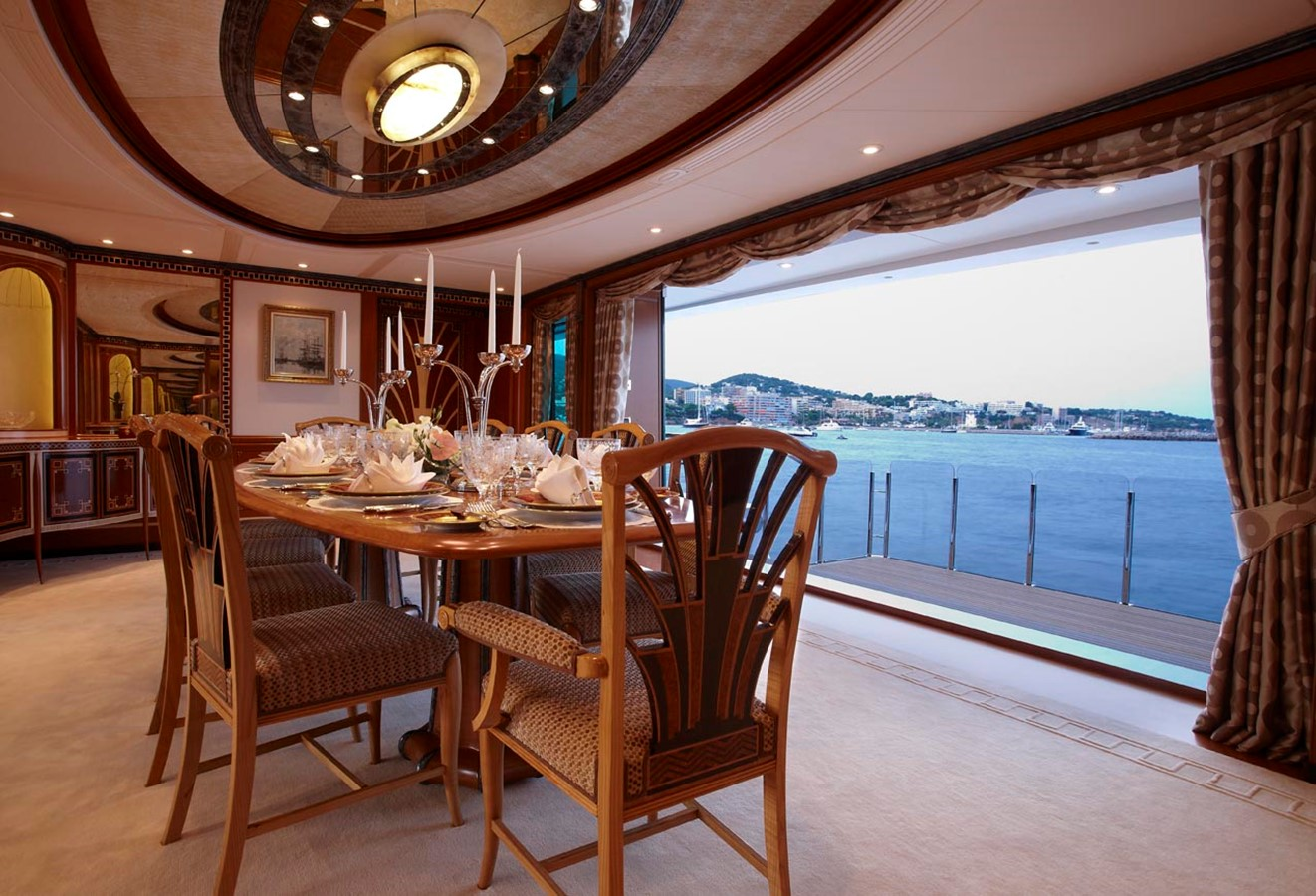 Dining Looking Out to Sea Balcony 2010 FEADSHIP  Motor Yacht 2454543
