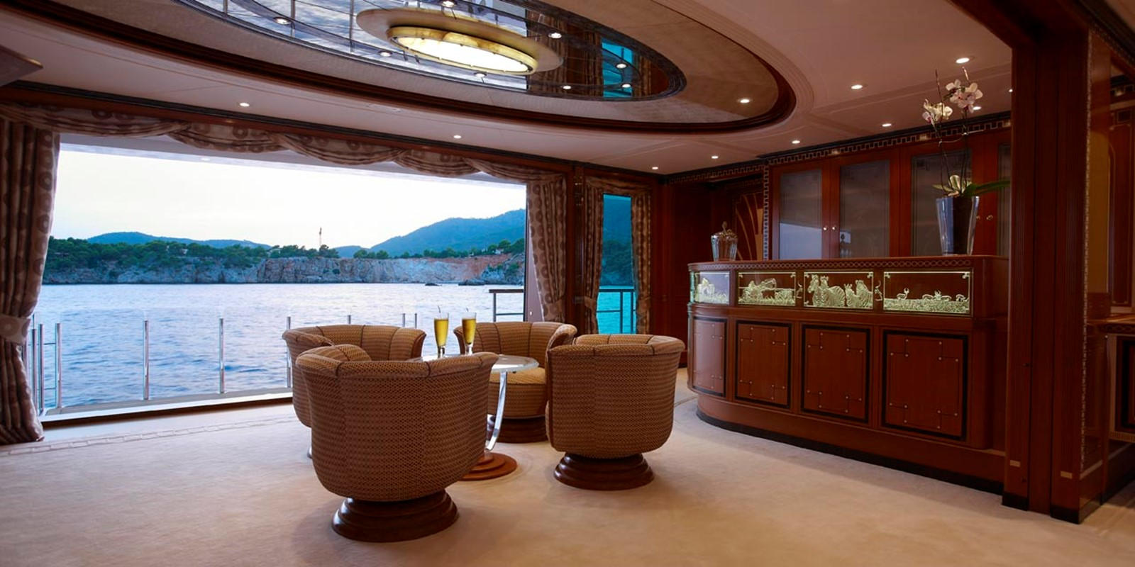 Piano Bar Looking Out To Sea Balcony 2010 FEADSHIP  Motor Yacht 2454544