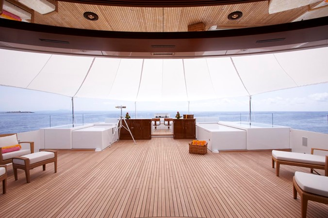 View from Key West Room on Sun Deck 2010 FEADSHIP  Motor Yacht 2454531