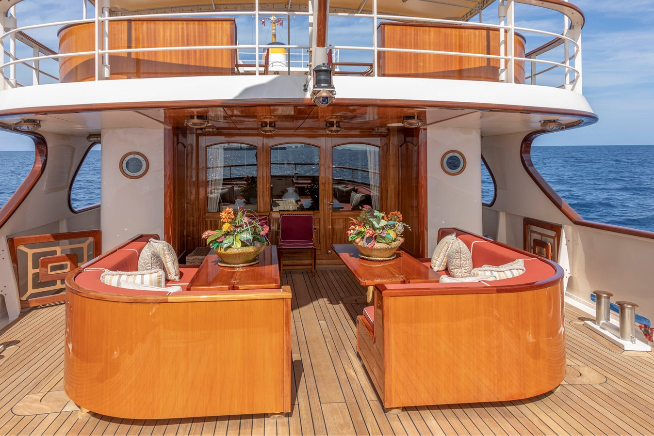 Main Aft Deck  2001 CUSTOM Classic Fantail Motor Yacht 2528436