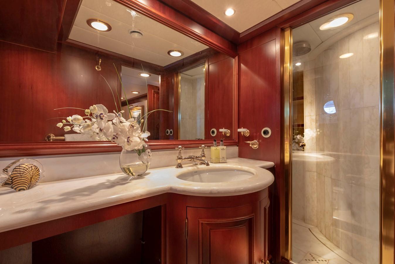Guest Bath 2001 CUSTOM Classic Fantail Motor Yacht 2528459