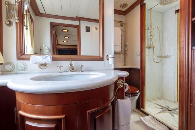 Main Deck Master Bath 2001 CUSTOM Classic Fantail Motor Yacht 2528450