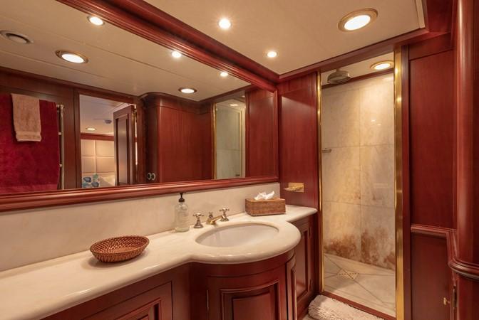 Guest Bath 2001 CUSTOM Classic Fantail Motor Yacht 2528453