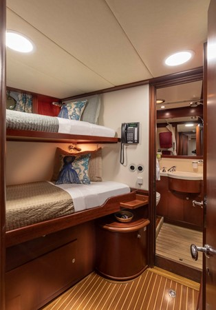 Crew Cabin 2001 CUSTOM Classic Fantail Motor Yacht 2528476