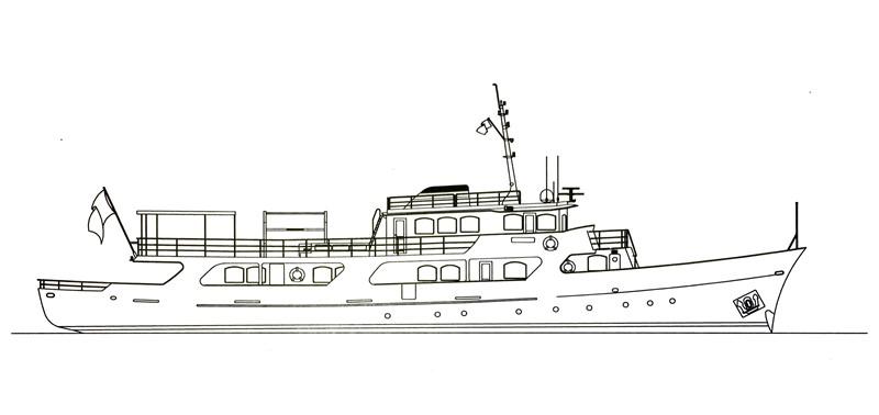 Profile 2001 CUSTOM Classic Fantail Motor Yacht 2528484