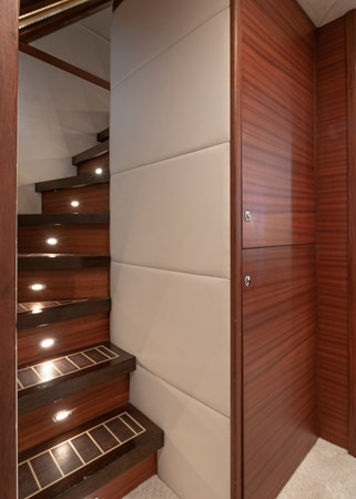 Detail of stairs to cabins 2007 CUSTOM BUILT  Trawler 2461151