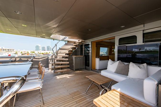 Master Salon Aft Deck 2004 OCEANFAST 174 Custom Superyacht Mega Yacht 2501041