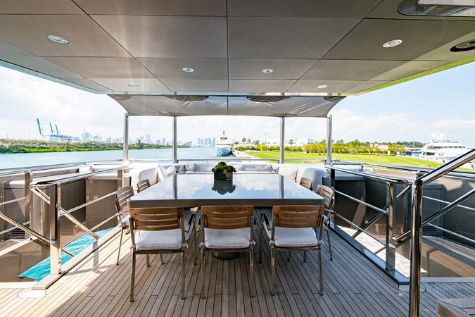 Master Salon Aft Deck 2004 OCEANFAST 174 Custom Superyacht Mega Yacht 2501042
