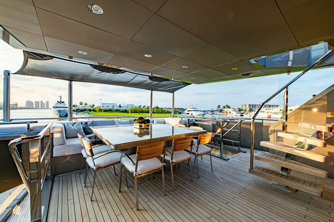 Master Salon Aft Deck 2004 OCEANFAST 174 Custom Superyacht Mega Yacht 2501044