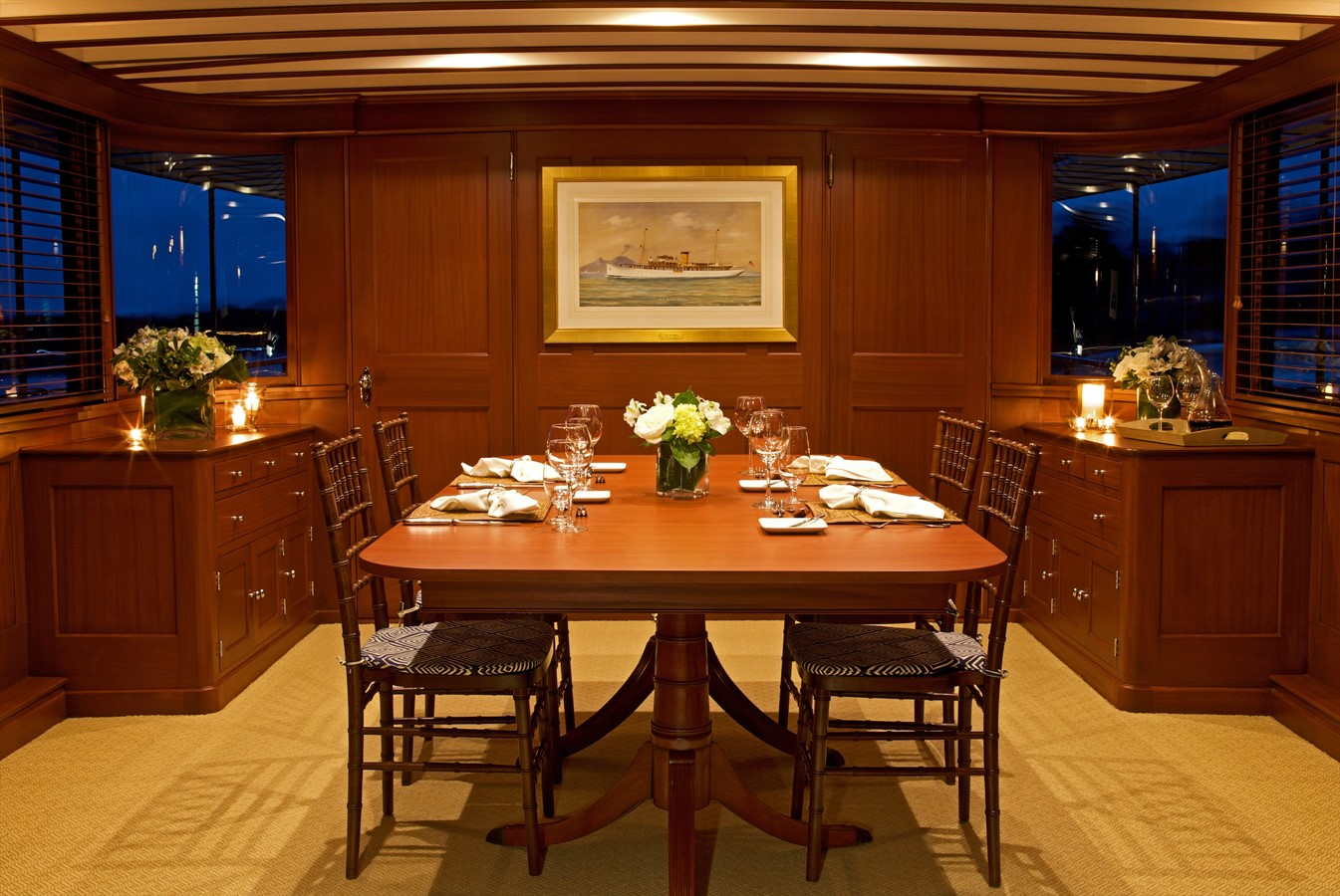 Dining Saloon  1926 TRUMPY Mathis Fantail (Fractional Opportunity) Motor Yacht 2467407
