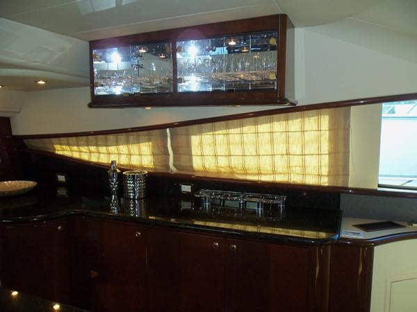 Galley Glass Storage 2008 NEPTUNUS Flybridge Motoryacht Cruiser 2498056