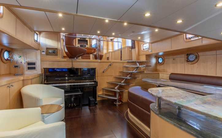Lower Salon & Piano 1957 FEADSHIP  Vintage 2499065