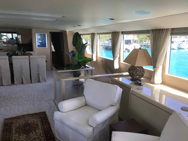 Salon to Starboard 1990 BROWARD Custom Extended Motor Yacht 2499297