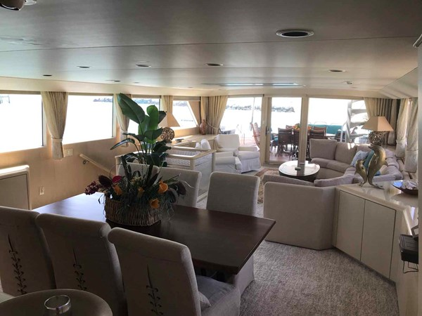 Dining Area Looking Aft 1990 BROWARD Custom Extended Motor Yacht 2499303