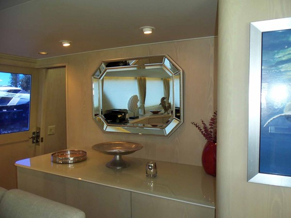 Forward of Dining Area 1990 BROWARD Custom Extended Motor Yacht 2499305