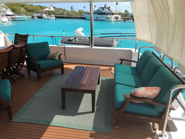 Aft Deck Seating 1990 BROWARD Custom Extended Motor Yacht 2499345