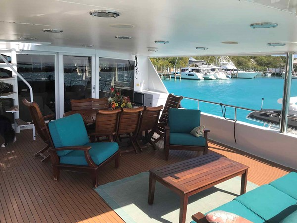 Aft Deck Seating 1990 BROWARD Custom Extended Motor Yacht 2499348