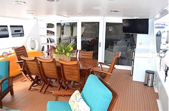 Aft Deck Seating 1990 BROWARD Custom Extended Motor Yacht 2499349