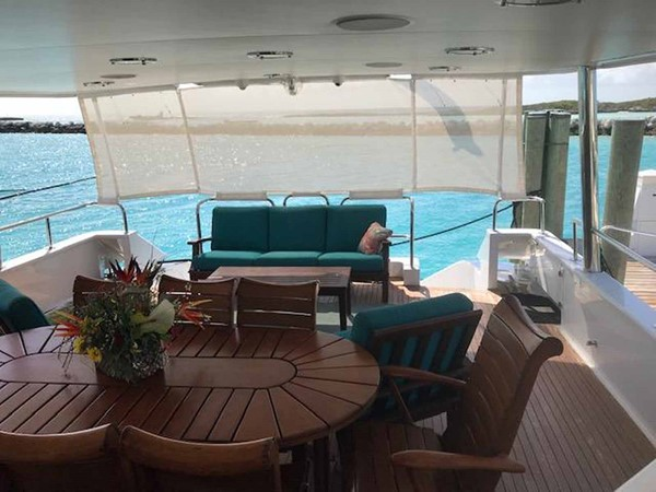 Aft Deck Sunshade 1990 BROWARD Custom Extended Motor Yacht 2499351