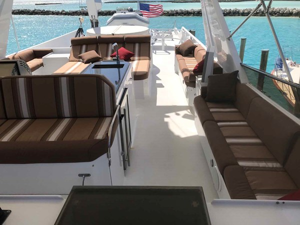 Flybridge Looking Aft 1990 BROWARD Custom Extended Motor Yacht 2499360