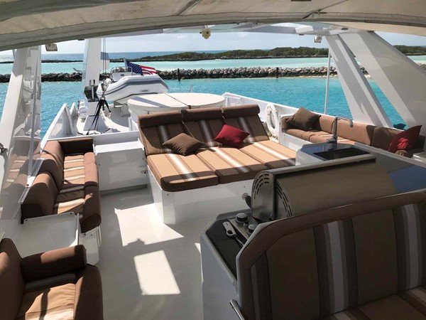 Flybridge Looking Aft 1990 BROWARD Custom Extended Motor Yacht 2499361